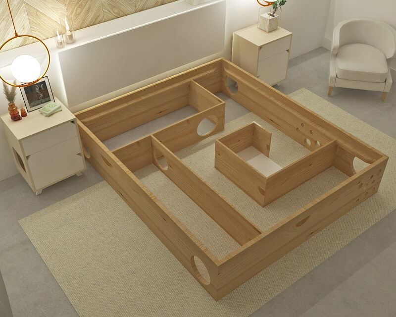 Turn your bed into a cat maze. Here's how
