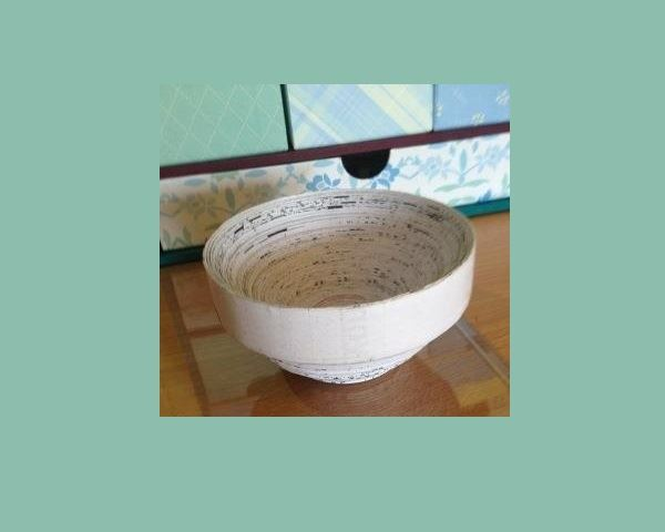 Make A Recycled Paper Bowl