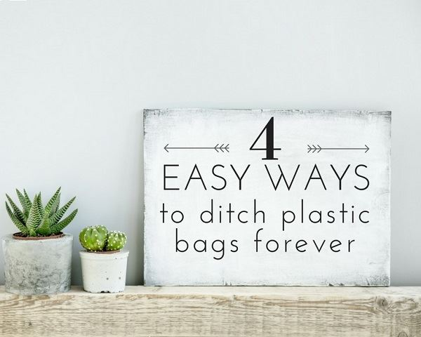 4 Easy Ways to Ditch Plastic Bags Forever